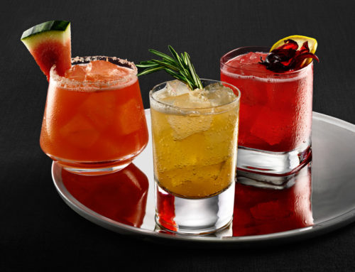 Margarita Sandia, Blossoming Bramble, and Hold'em Highball