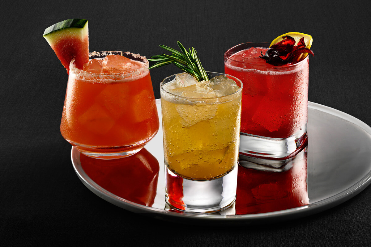 Margarita Sandia, Blossoming Bramble, and Hold em Highball